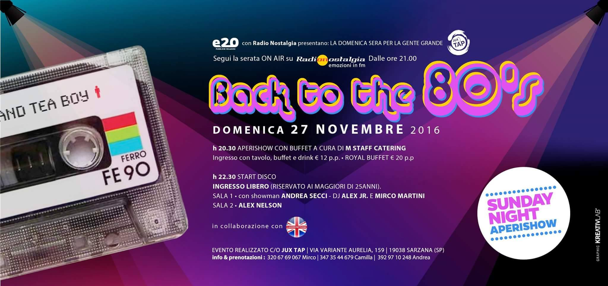 Back to the 80's  Back to the 80's al Sunday Night 15146796 10209704979214641 32700503 o